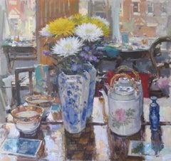 Studio Table - Still Life Painting contemporary modern art