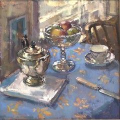 Time for Tea - Original Contemporary  still life oil painting 21st Century