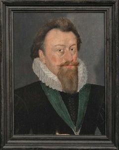 Portrait King James I and VI (1566-1625), 17th Century