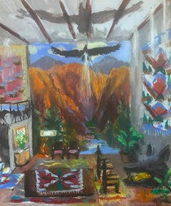 Zion Livingroom with Wolf Fireplace