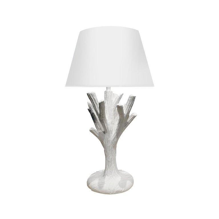 """John Dickinson Rare and Important """"Twig"""" Plaster Table Lamp, 1970s For Sale"""