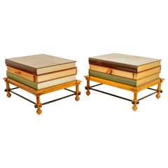 "John Dickinson ""Stack of Books"" Side Tables"