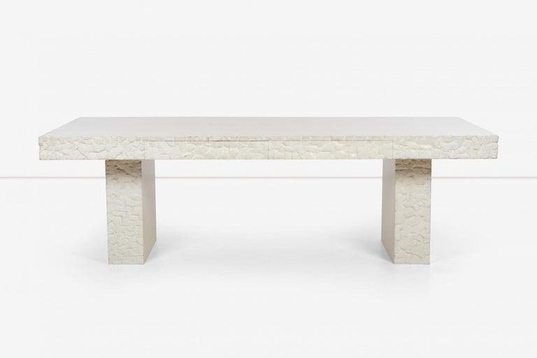 Carved John Dickinson Unique Table/Partners Desk For Sale