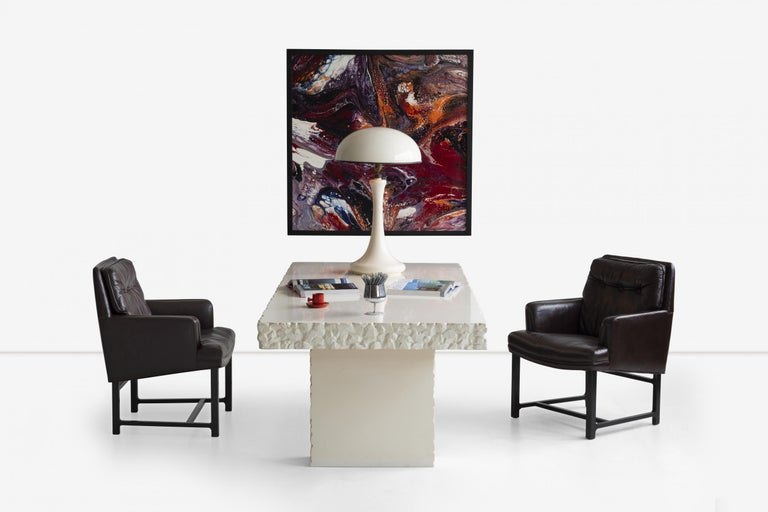 John Dickinson Unique Table/Partners Desk In Good Condition For Sale In Chicago, IL