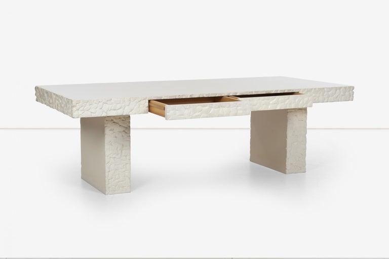 Plaster John Dickinson Unique Table/Partners Desk For Sale