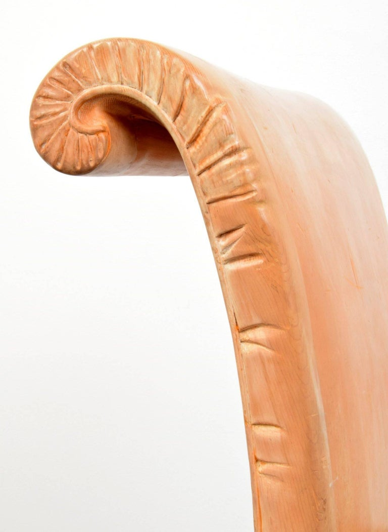 John Dickinson, Hand-Carved Chair, USA, 1969 For Sale 1
