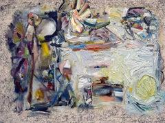 Roald Dahl Hy-Brasil disco, Painting, Oil on Canvas