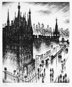 John Duffin, Kings Cross Rain, Limited Edition Print, Art of London
