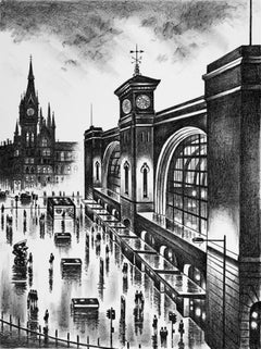 John Duffin, London King's Cross, Cityscape Art, Limited Edition Print