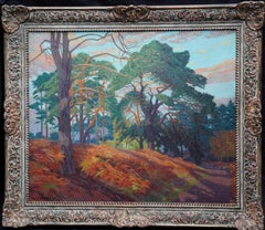 Richmond Royal Park - British 30's art oil painting London woodland landscape