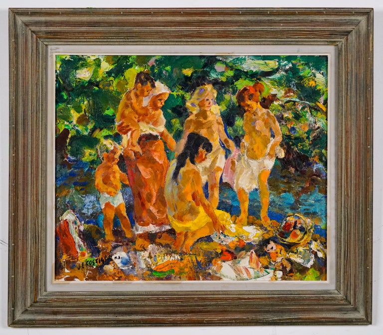 John Edward Costigan Figurative Painting - Bathers