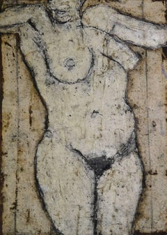 Standing Figure: Contemporary Nude Figurative Oil Painting by John Emanuel