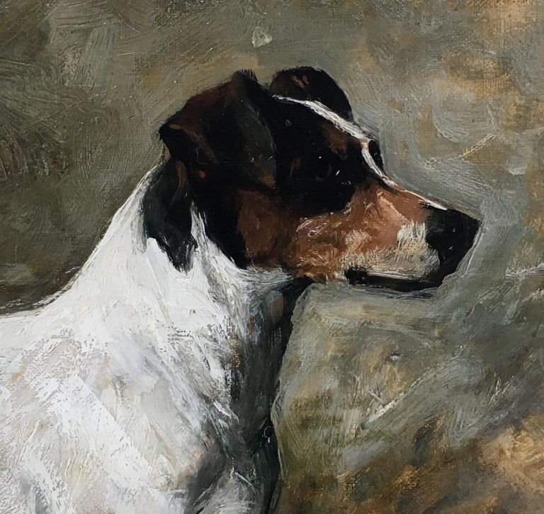 John Emms dog painting of 'Peter' a Fox Terrier For Sale 1