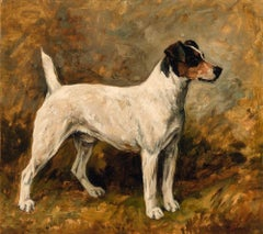John Emms dog painting of 'Peter' a Fox Terrier