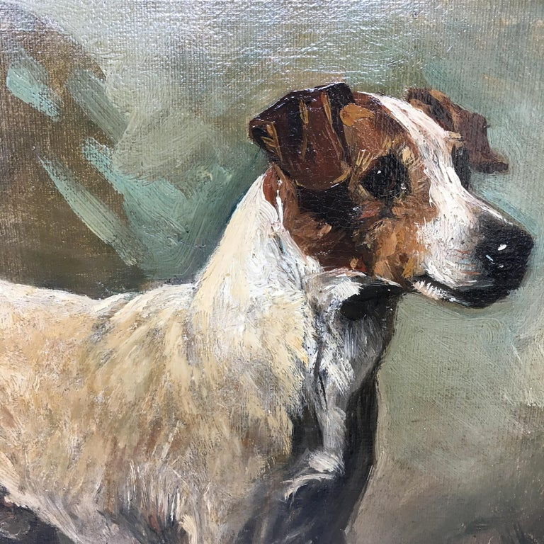 John Emms dog painting of 'Turk' A Jack Russell Terrier For Sale 2