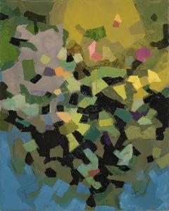 ETUDE EN BAROQUE, oil paint, vivid colors, green, solid colors,