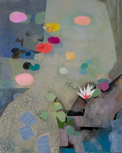 SOUL AND MOONS, abstract, earth tones, matte, pink, flowers, water lillies