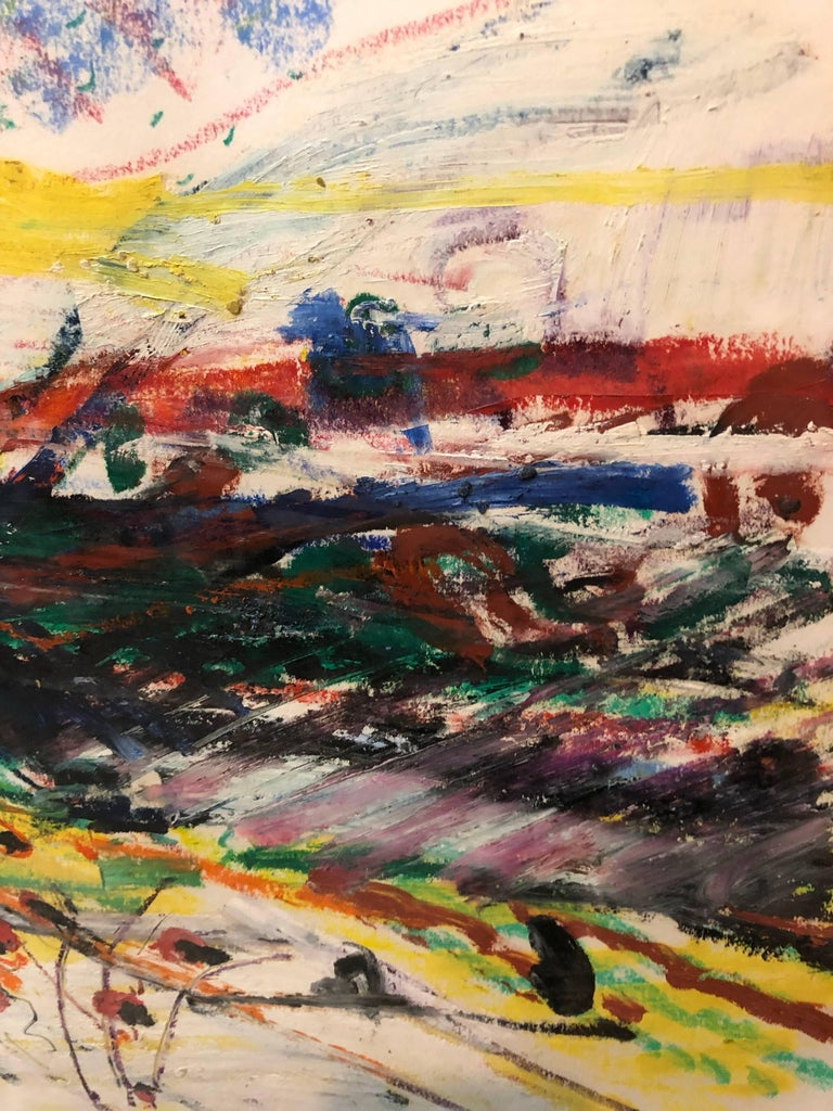 John Evans (American, b. 1945), Untitled oilstick on paper, signed in pencil lower center, gallery label (Allan Stone Gallery, New York) affixed verso, sheet: sight size is  22