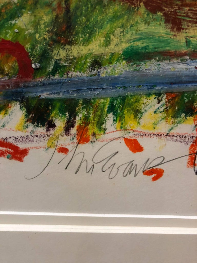 Untitled Abstract Landscape Oil Pastel Painting Figurative Abstraction For Sale 3