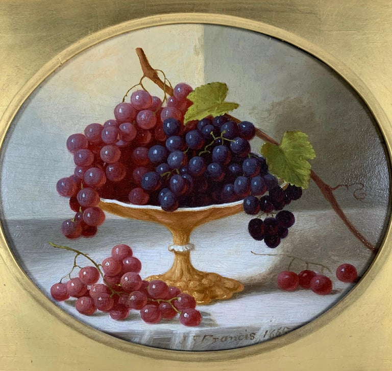 Cakes and Cider & Grapes and Compote (pair of still lifes) For Sale 1