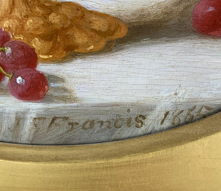 Cakes and Cider & Grapes and Compote (pair of still lifes) For Sale 2