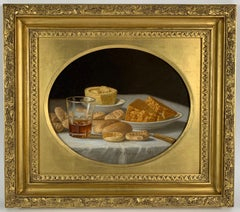 Cakes and Cider & Grapes and Compote (pair of still lifes)