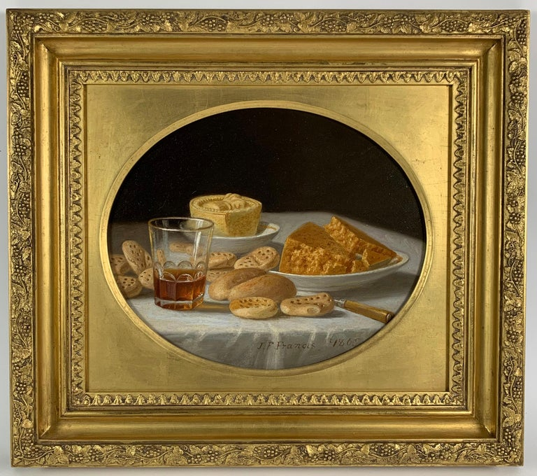 John F. Francis Still-Life Painting - Cakes and Cider & Grapes and Compote (pair of still lifes)