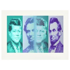 'John F Kennedy - Abraham Lincoln' screenprint by Yvaral
