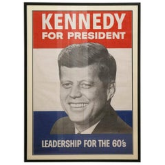 John F Kennedy Original 1960 Presidential Campaign Color Poster