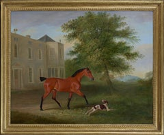 John Ferneley Senior (1782-1806), A Horse and dog in a landscape, Ireland
