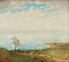 """Western Lake Landscape,"" John Fery, Hudson River School View"