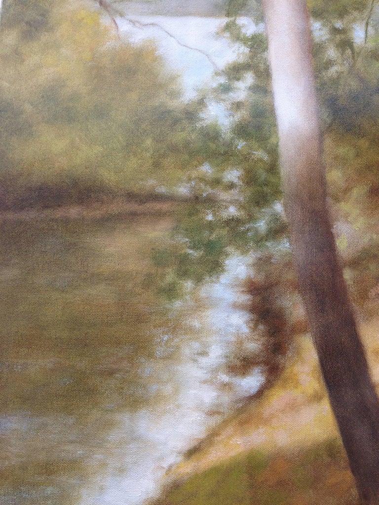 Lake Passage - American Impressionist Painting by John Folchi