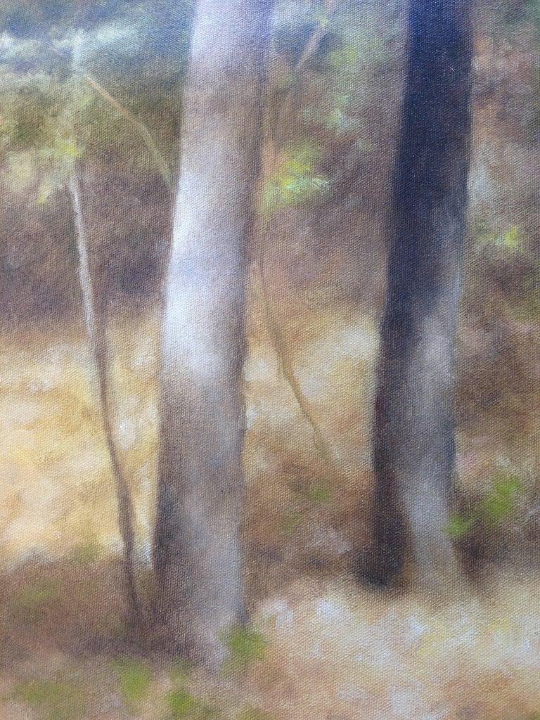 Lake Passage - Brown Landscape Painting by John Folchi