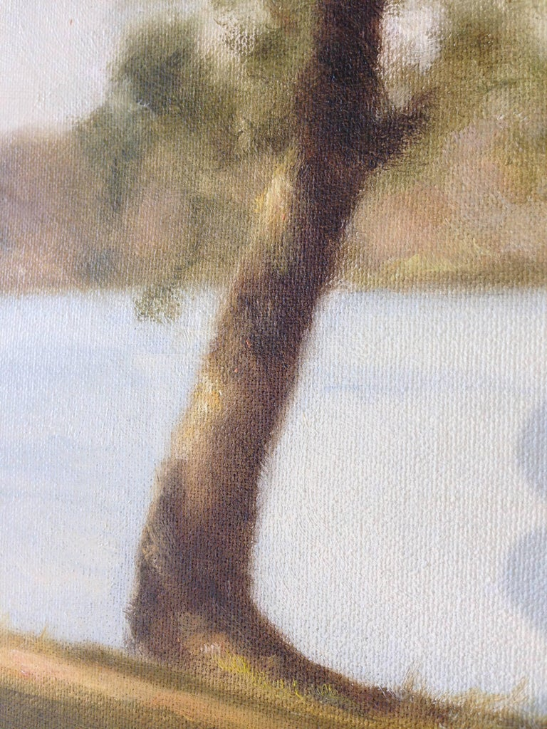 Lakeside Breeze - American Impressionist Painting by John Folchi