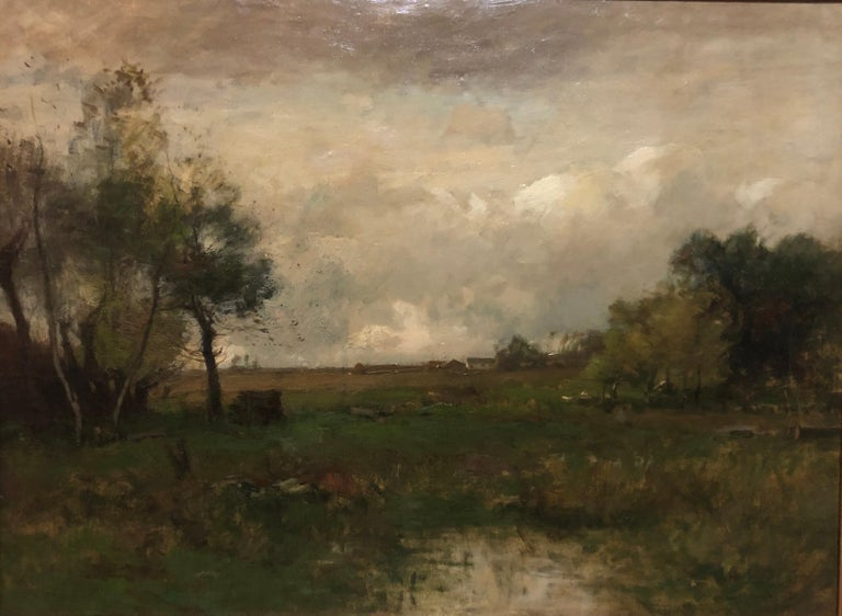 John Francis Murphy  (1853 - 1921) Autumn, Landscape, Catskills, New York, 1890 Oil on canvas 13 1/2 x 18 1/2 inches Signed and dated lower right: J. Francis Murphy 1890  Provenance: Private Collection, Beverly Hills, California Private Collection,