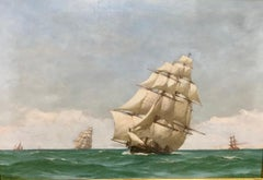Off Dover - Maritime Seacape Of A Clipper Sailing Ship By John Fraser R.B.A