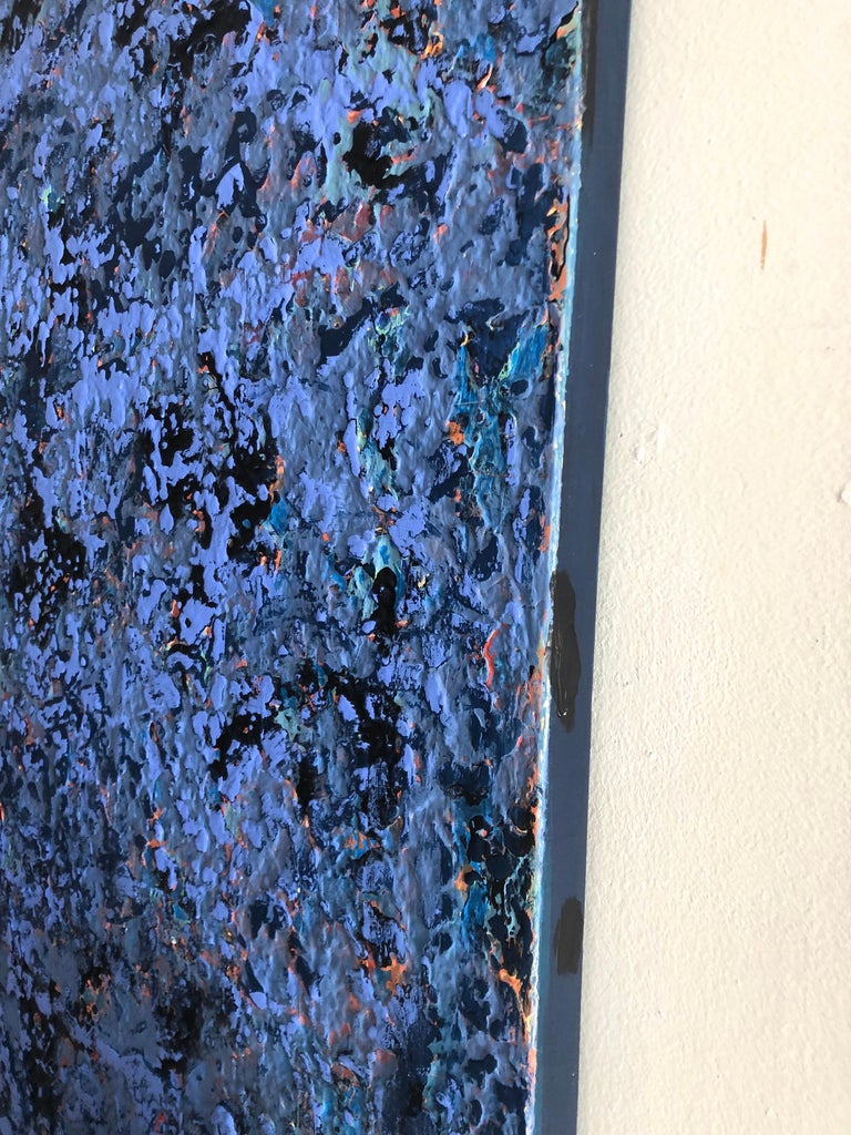 Blue Rain Large Contemporary Abstract Painting 3