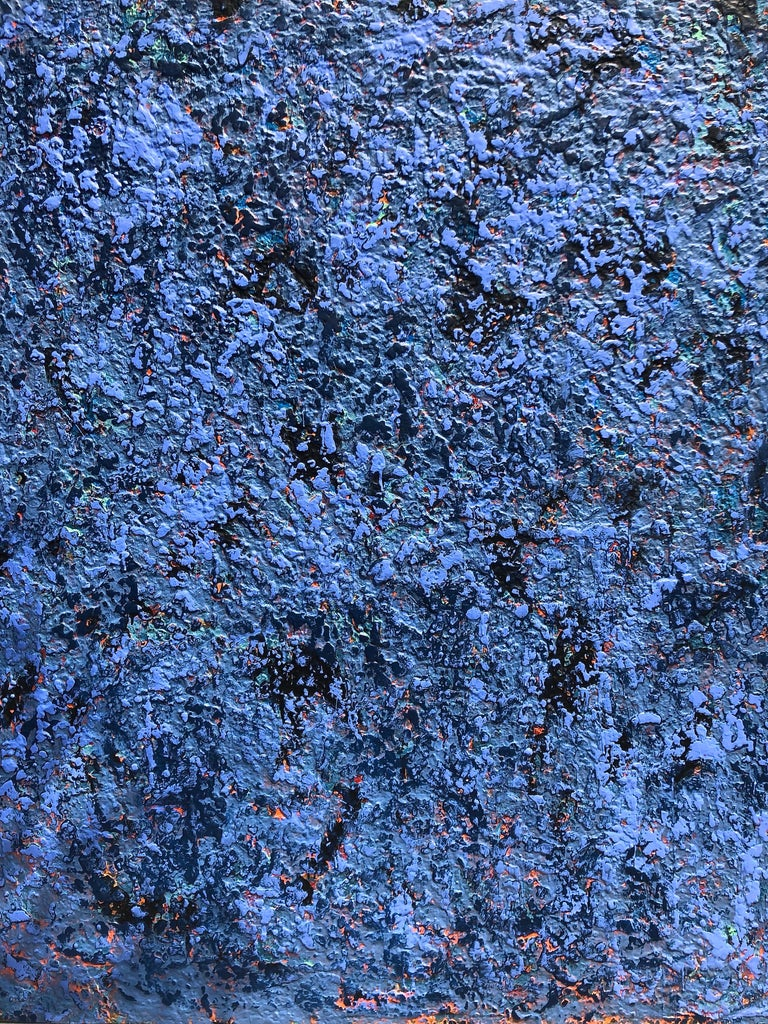 Blue Rain Large Contemporary Abstract Painting 4