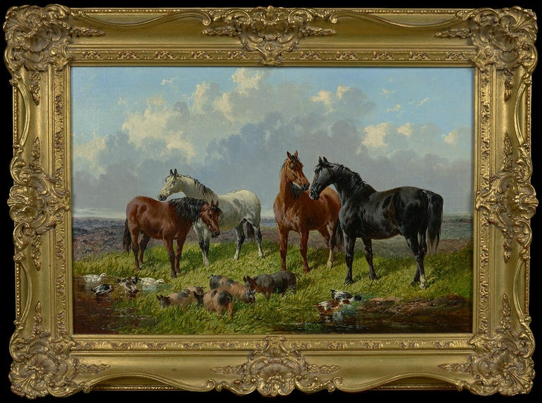 Farmyard Friends - Painting by John Frederick Herring Jr.