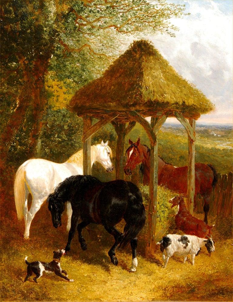 John Frederick Herring Jr. Animal Painting - On the Farm