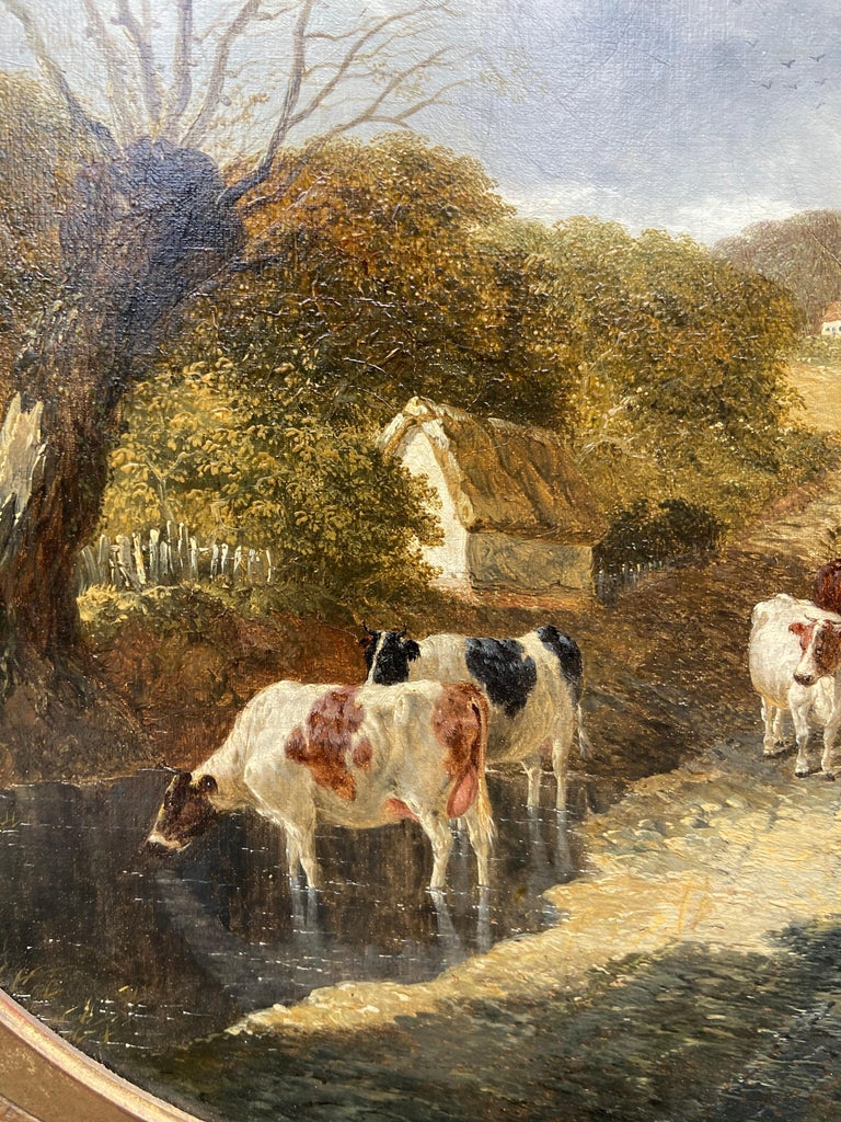 John Fredrick Herring Jr Pair of Farmyard Scenes  Signed and Dated  Oil on Canvas 56 X 56 cm   John Fredrick Herring Jr was born in Doncaster South Yorkshire around 1820. He was the son of John Fredrick Herring Sr, one of Britain's best equestrian