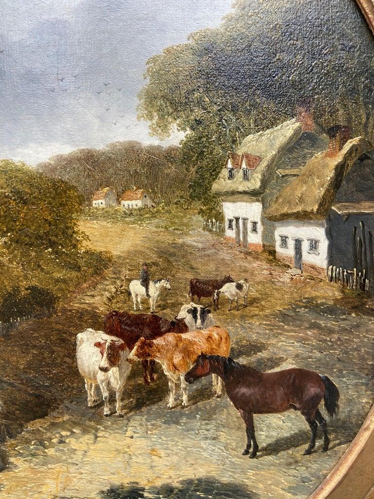 Pair of Farmyard Scenes by J.F. Herring Jr For Sale 1