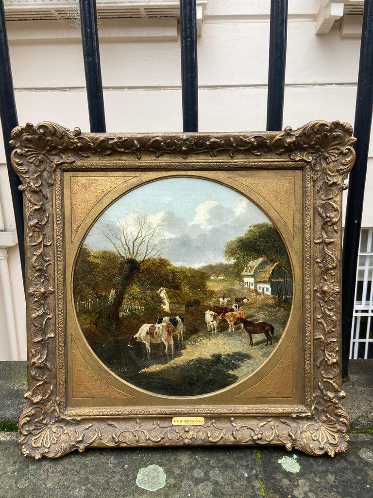 Pair of Farmyard Scenes by J.F. Herring Jr For Sale 2