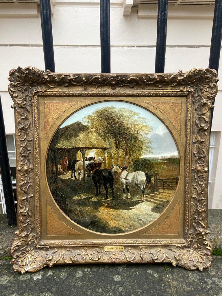 Pair of Farmyard Scenes by J.F. Herring Jr For Sale 3