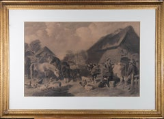 After John Frederick Herring Sr. (1795–1865) -1859 Mezzotint, A Moment Of Rest