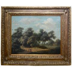 Mid-19th Century Landscape Oil on Wood Trees in the Woods by John Kensett