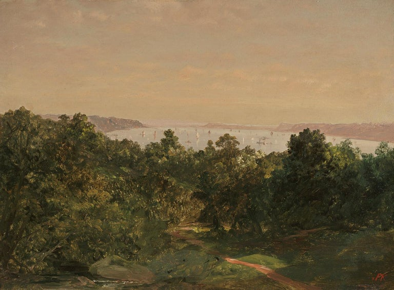 <i>On the Hudson from Ossining</i>, 19th century, by John Frederick Kensett, offered by Questroyal Fine Art