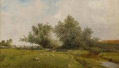 Rhode Island Meadow, Landscape by John Frederick Kensett (1816-1872, American)
