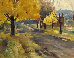 """Autumn Light,"" John F Folinsbee, American Impressionist, New Hope School, oil"