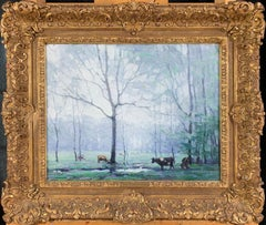 Cows, Impressionist Landscape with Animals, New Hope School, Pennsylvania